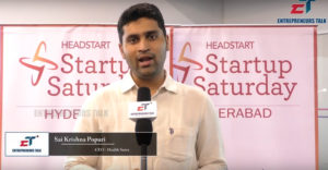Health Sutra CEO Sai Krishna Startup Saturday – Entrepreneurs Talk